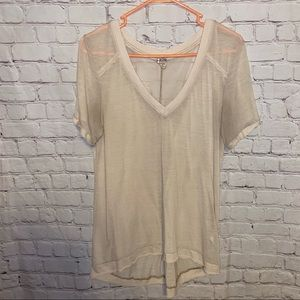 Free people V-Neck t-shirt size medium